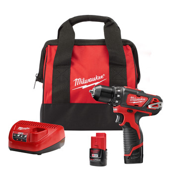 Milwaukee 2407-22 M12 12V Cordless Lithium-Ion 3\/8 in. Drill\/Driver Kit
