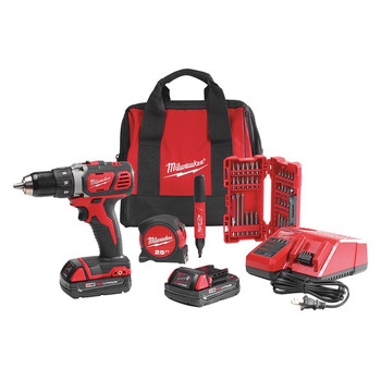 Milwaukee 2606-22CTP M18 18V Cordless Lithium-Ion 1\/2 in. Drill Driver Contractor Kit