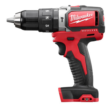 Milwaukee 2702-20 M18 1\/2 in. Cordless Lithium-Ion Compact Brushless Hammer Drill Driver (Bare Tool)