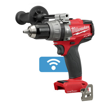 Milwaukee 2706-20 M18 FUEL 18V Cordless Lithium-Ion 1\/2 in. Hammer Drill Driver with ONE-KEY Connectivity (Bare Tool)