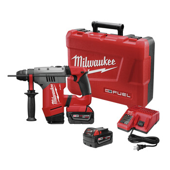 Milwaukee 2715-22 M18 FUEL 18V Cordless Lithium-Ion 1-1\/8 in. SDS Plus Rotary Hammer Kit