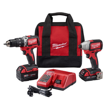 Milwaukee 2799-22CX M18 Cordless Lithium-Ion Compact Brushless Hammer Drill and Impact Combo Kit
