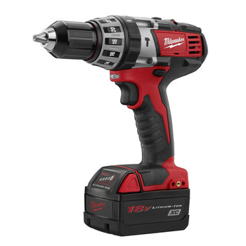 Milwaukee 2602-82 M18 18V Cordless Lithium-Ion 1\/2 in. Hammer Drill Driver Kit