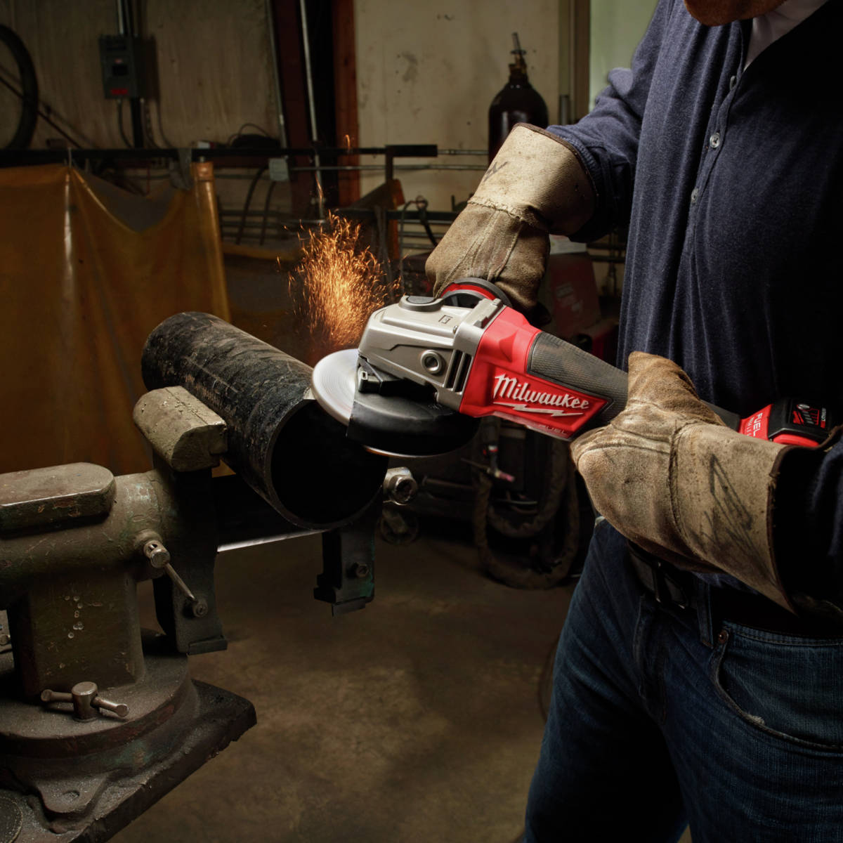 M18 FUEL Lithium-Ion Paddle Switch Grinder performs like a corded grinder