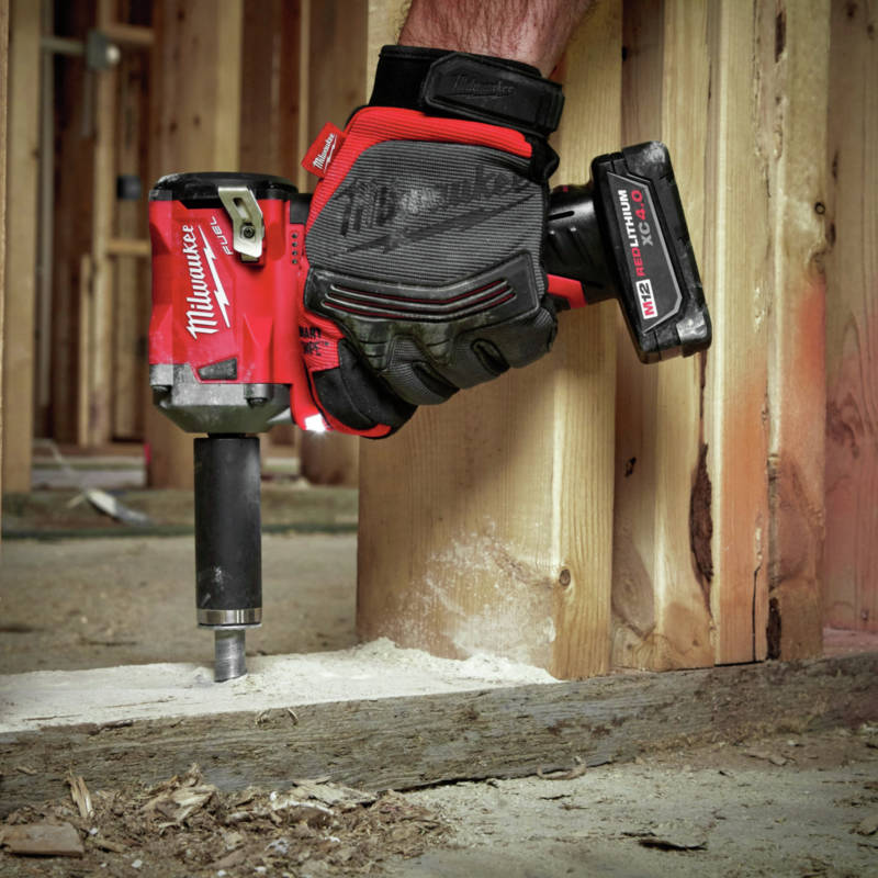 M18 FUEL Stubby Impact Wrench with proprietary 4-Mode Drive Control provides unmatched control