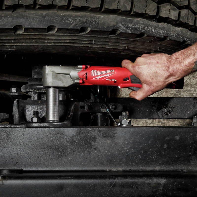 M12 FUEL Lithium-Ion 3/8 in. Cordless Right Angle Impact Wrench with Friction Ring provides more access in tight spaces