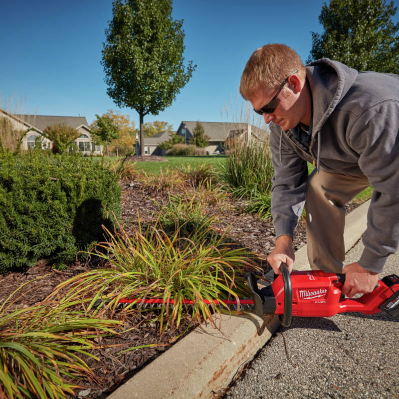 M18 FUEL Hedge Trimmer cuts up to 30 percent faster