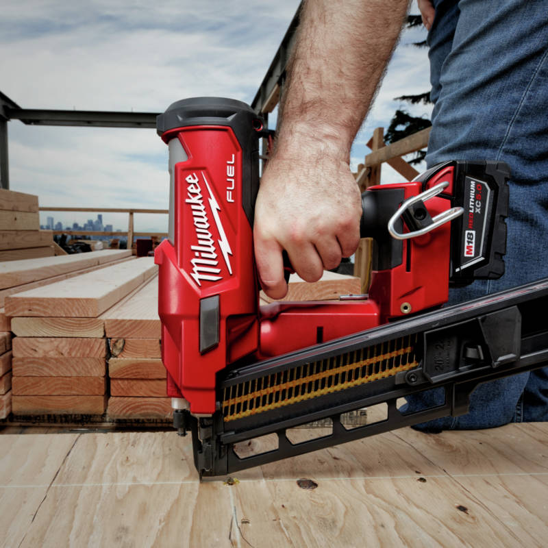 M18 FUEL Cordless Framing Nailer fires up to 3 nails per second with zero ramp-up time