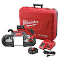Milwaukee 2729-22 M18 FUEL Cordless Lithium-Ion Deep Cut Band Saw with (2) XC 5 Ah Li-Ion Batteries image number 11