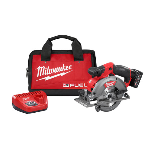 Factory Reconditioned Milwaukee 2530-81XC M12 FUEL 12V Cordless Lithium-Ion 5-3/8 in. Circular Saw Kit with XC Battery