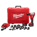 Milwaukee 2676-22 M18 FORCE LOGIC Cordless Lithium-Ion High Capacity Knockout Kit with EXACT 1/2 - 2 in. Knockout Set