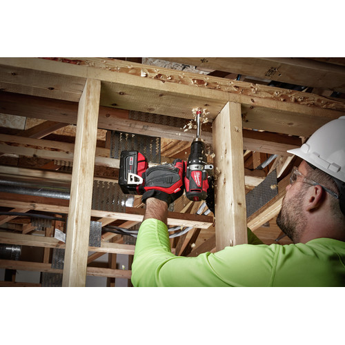 Milwaukee 2902-22 M18 Lithium-Ion Brushless 1/2 in. Cordless Hammer Drill Kit (4 Ah) image number 7