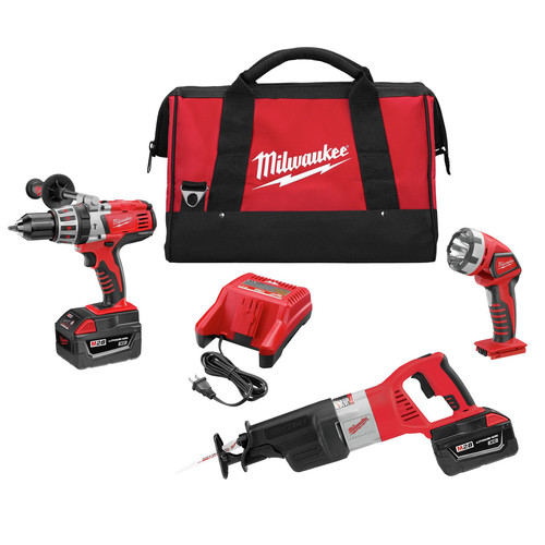 Milwaukee 0928-23 M28 28V Cordless Lithium-Ion 3-Tool Combo Kit