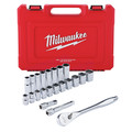 Milwaukee 48-22-9410 22-Piece SAE 1/2 in. Drive Ratchet and Socket Set image number 0