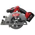 Factory Reconditioned Milwaukee 2730-82 M18 FUEL Cordless 6-1/2 in. Circular Saw with 2 REDLITHIUM Batteries image number 3