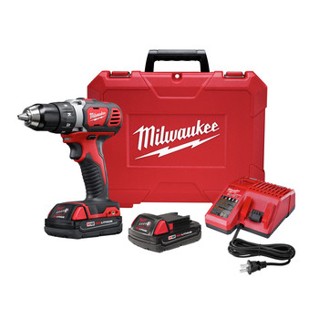 Milwaukee 2606-22CT M18 Lithium-Ion 1/2 in. Cordless Drill Driver Kit (1.5 Ah)
