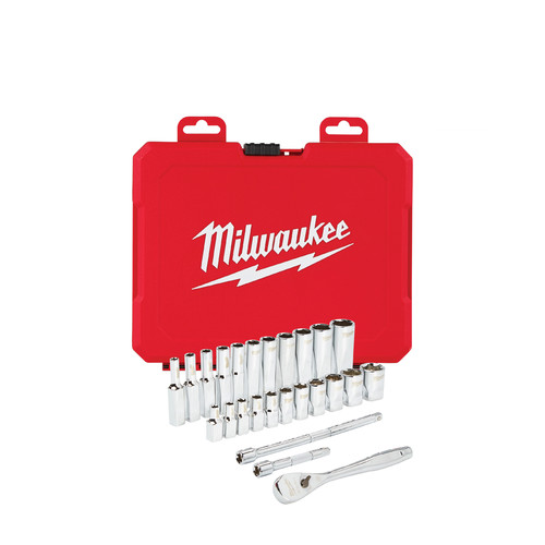 Milwaukee 48-22-9404 1/4 in. Drive 26pc Ratchet & Socket Set (SAE)