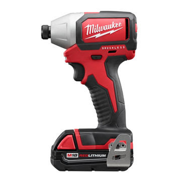 Factory Reconditioned Milwaukee 2750-82CT M18 1/4 in. Hex Cordless Lithium-Ion Compact Brushless Impact Driver Kit image number 0