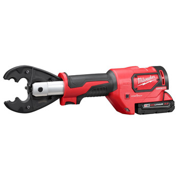 Milwaukee 2678-22O M18 Force Logic 18V 2.0 Ah Cordless Lithium-Ion 6T Utility Crimper Kit with D3 Groves and Fixed O Die image number 1