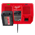 Milwaukee 48-59-1802 M18 Dual Bay Simultaneous Rapid Lithium-Ion Charger image number 9
