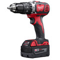 Factory Reconditioned Milwaukee 2607-82 M18 Lithium-Ion XC 1/2 in. Cordless Hammer Drill Driver Kit (3 Ah) image number 1