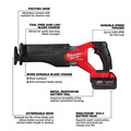 Milwaukee 2821-21 M18 FUEL Brushless Lithium-Ion SAWZALL 1-1/4 in. Cordless Reciprocating Saw Kit with (1) Battery (5 Ah) image number 2