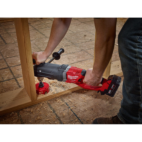 Milwaukee 2709-20 M18 FUEL SUPER HAWG Lithium-Ion 1/2 in. Cordless Right Angle Drill (Tool Only) image number 4