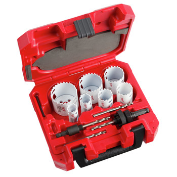 Milwaukee 49-22-3090 12-Piece HOLE DOZER Hole Saw with Carbide Teeth Kit