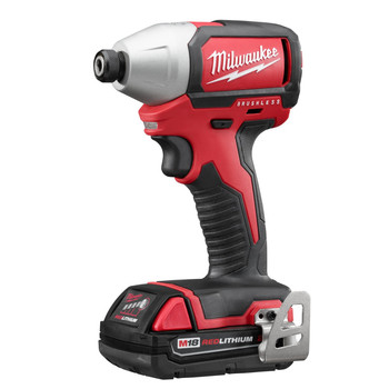 Factory Reconditioned Milwaukee 2750-82CT M18 1/4 in. Hex Cordless Lithium-Ion Compact Brushless Impact Driver Kit image number 1