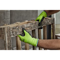 Milwaukee 48-73-8922B 12-Piece Cut Level 2 High Visibility Polyurethane Dipped Gloves - Large image number 4