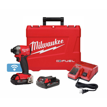 Milwaukee 2857-22CT M18 FUEL 1/4 in. Hex Impact Driver with ONE-KEY CP Kit image number 0