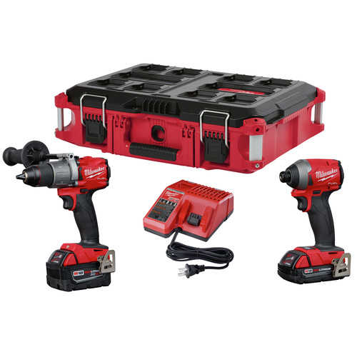 Milwaukee 2997-22CXPO M18 FUEL Hammer Drill and Impact Driver PACKOUT Kit image number 0