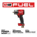 Milwaukee 2962P-20 M18 FUEL Lithium-Ion Brushless Mid-Torque 1/2 in. Cordless Impact Wrench with Pin Detent (Tool Only) image number 2