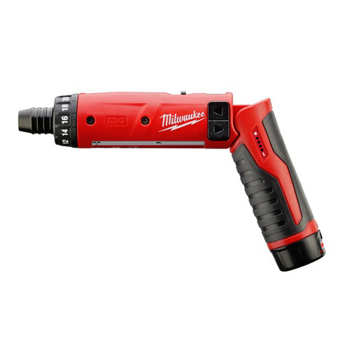 Factory Reconditioned Milwaukee 2101-81 4V Cordless M4 Lithium-Ion 1/4 in. Hex Screwdriver with 2.0 Ah RedLithium Battery