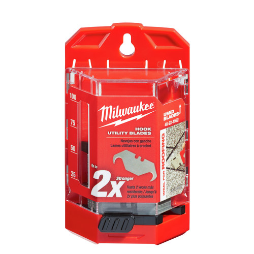 Milwaukee 48-22-1952 Hook Utility Knife Blades with Dispenser (50-Pack)