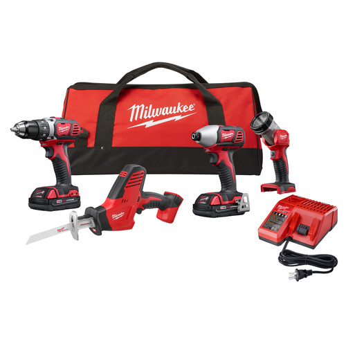 Milwaukee 2695-24CX M18 Cordless Lithium-Ion 4-Tool Combo Kit
