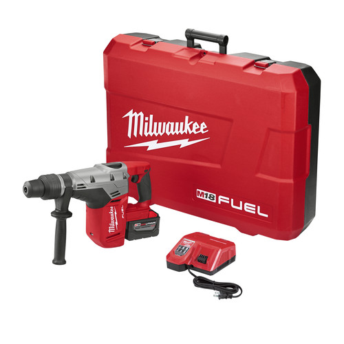 Milwaukee 2717-21HD M18 FUEL 9.0 Ah Cordless Lithium-Ion 1-9/16 in. Rotary Hammer Kit image number 0