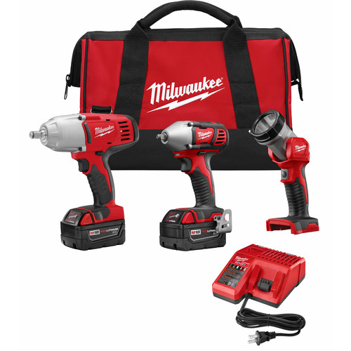 Milwaukee 2996-23 Gen 2 M18 Fuel 3Pc Impact Wrench Auto Kit