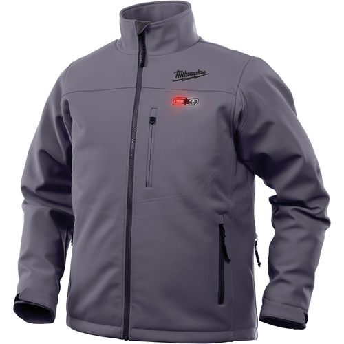 Milwaukee 202G-203X M12 Heated TOUGHSHELL Jacket (Jacket Only) - Gray, 3X image number 0