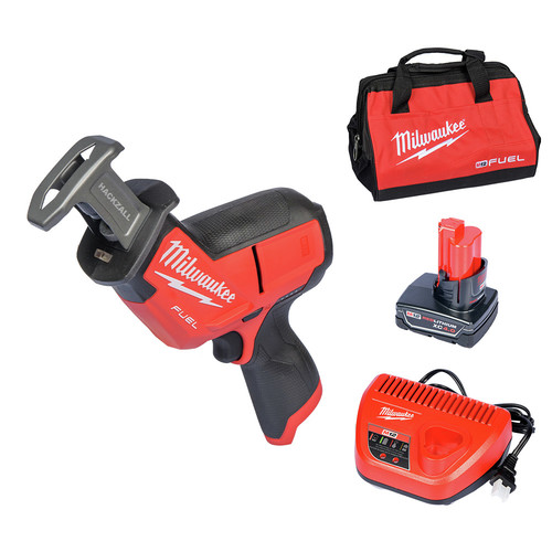 Milwaukee 2520-21XC M12 FUEL Cordless HACKZALL Reciprocating Saw Kit with XC Battery image number 0