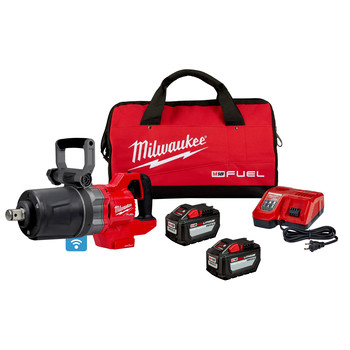 Milwaukee 2868-22HD M18 FUEL Brushless Lithium-Ion 1 in Cordless D-Handle High Torque Impact Wrench Kit (12 Ah)