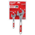 Milwaukee 48-22-7400 2-Piece 6 in. and 10 in. Adjustable Wrench Set image number 1
