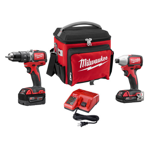 Milwaukee 2799-22CXPO M18 Compact Brushless 2PC Kit with FREE Jobsite Cooler