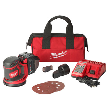 Milwaukee 2648-21 M18 Random Orbit Sander Kit