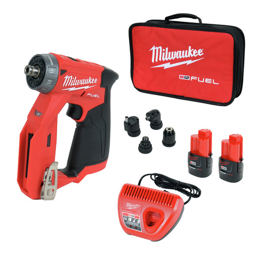 Milwaukee 2505-22 M12 FUEL Lithium-Ion 3/8 in. Cordless Installation Drill Driver Kit (2 Ah) image number 0