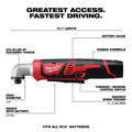 Milwaukee 2467-21 M12 Lithium-Ion 1/4 in. Right Angle Impact Driver Kit image number 6