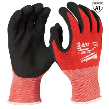 Milwaukee 48-22-8902B 12-Piece Cut Level 1 Nitrile Dipped Gloves - Large