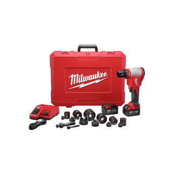 Milwaukee 2676-22 M18 FORCE LOGIC Cordless Lithium-Ion High Capacity Knockout Kit with EXACT 1/2 - 2 in. Knockout Set image number 5