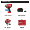 Milwaukee 2863-22 M18 FUEL with ONEKEY High Torque Impact Wrench 1/2 in. Friction Ring Kit image number 1