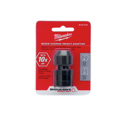 Milwaukee 48-03-4410 1/2 in. Square x 1/4 in. Hex Shockwave Impact Adapter